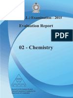 Chemistry A/L 2015 Evaluation Report
