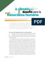 Cambio Climatico, Desafio Para La Naturaleza Humana Por María Guadalupe Gar Ibay Chávez y Patr Icia Bifani-Richard
