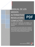 Los Medios Alternativos de Resolucion de Conflictos-manual