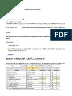 Formulas y Ejemplos de Excel