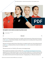 US Women's Soccer Players Fight for Equal Pay - Hope Solo and Carli Lloyd Discuss Income Inequality in Soccer