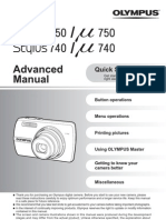 Olympus Mju740 750 Advanced Manual