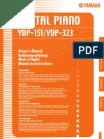 Yamaha Ydp 323 Piano Manual