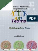 Strabismus, Amblyopia Management and Leukocoria