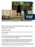 Here's Nine Ways to Fix the Electoral System – but First Get Out and Vote _ Polly Toynbee _ Opinion _ the Guardian