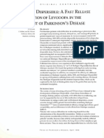 1996 Madopar Dispersible a Fast Release Formulation of Levodopa in the Treatment PD