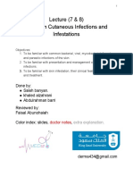 Common Cutaneous Infections and Infestations