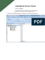 Copiar Un Contenido de Excel a Word
