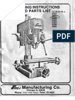 Enco milling and drilling machine manual  91002