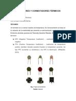 Termistores y Conmutadores Termicos
