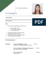 Resume (ESL)
