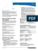 LMR 400 Type Cables Datasheet