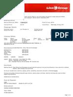 Lion Air ETicket (IGMQZX) - Nurani