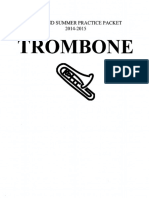 Trombone Summer Practice Packet 14-15