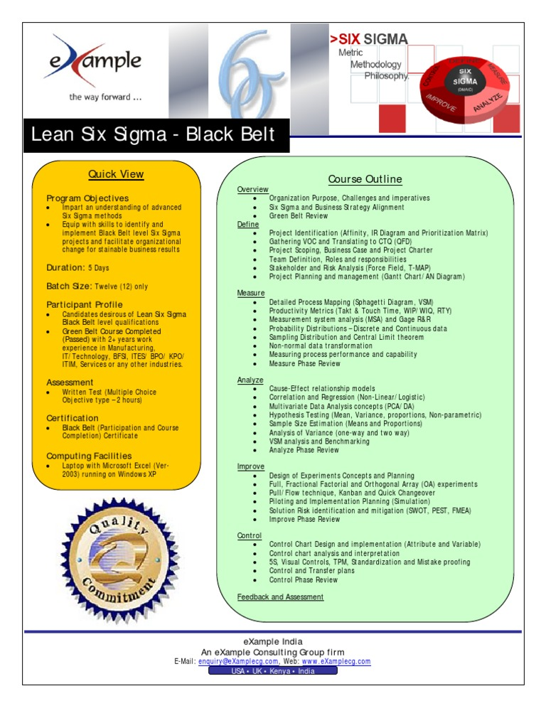 Six sigma green belt certification course in chennai software example consulting group lean six sigma black belt brochure doc 1betcityfo Image collections