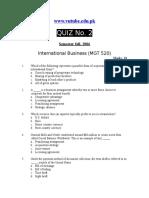 International Business - MGT520 Fall 2006 Quiz 02