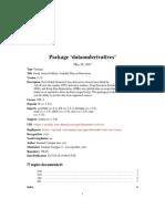 Data on Derivatives