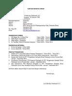 Contoh Daftar Riwayat Hidup Cv Pdf
