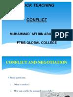 Mock Teaching Conflict