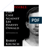 Impossible CaseAgainstLeeHarvey Oswald Appendices el caso contra harvey osvvald