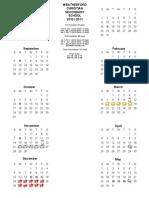 Calendar 10 11