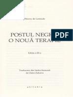 Postul Negru, o Noua Terapie - Thierry de Lestrade-1