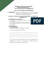 TALLER No. 4 EVALUACIÓN DE UN APRENDIZAJE
