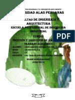 Trabajo Académico Desarrollado Gestión y Dirección de Empresas