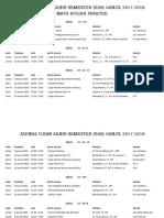 Jadwal UAS Praktek Semester Ganjil 2017-2018