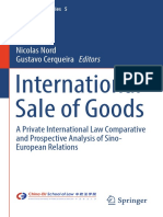 International Sale of Goods a Private International Law Comparative and Prospective Analysis of Sino-European Relations