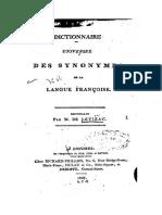 Lecoutz Dictionnaire Universel Des Synonymes Francais