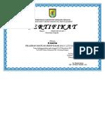 Format Sertifikat Untuk Pelatihan