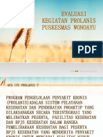 Evaluasi Kegiatan Prolanis Puskesmas Wonoayu