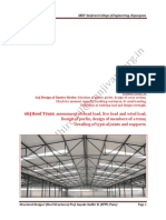 Design of Industrial roof truss and analysis of member forces