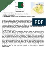 Algérie - Document pour étudiants