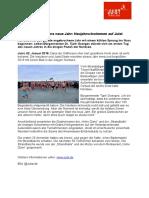 +++ Pressemeldung - Neujahrsschwimmen auf Juist 2018  +++