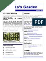 anitas garden newsletter - 20 october 2017