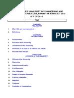 Khwaja Fareed University of Engineering and Information Technology, Rahim Yar Khan Act 2014.Doc
