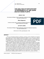 A Comparative Analysis of Participatory Ergonomics Programs in US and Japan Manufacturing Plants 1989