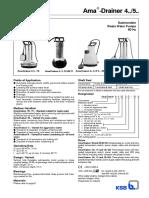 Amadrainer a..Pump Catalogue