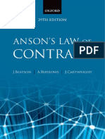 Copy of Anson's Law of Contract (2010)