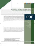 Qualidade de Vida e Aspectos Psicologicos Em Pacientes Com Doença Trofoblastica Gestacional