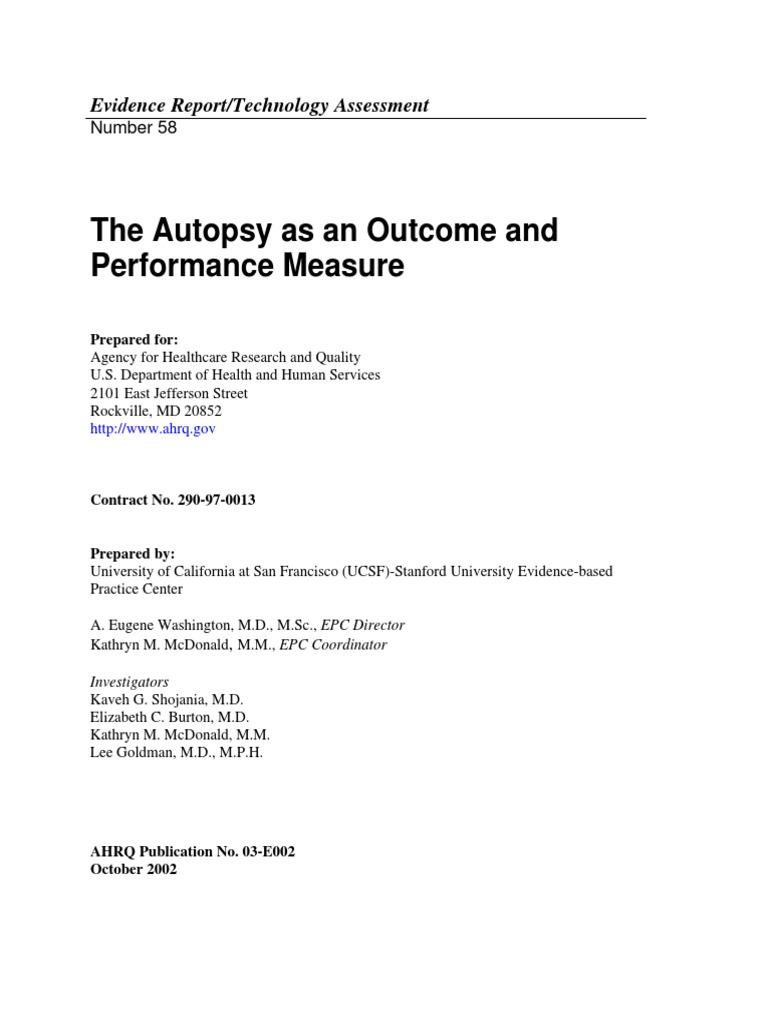 autopsy pdf | Medical Diagnosis | Autopsy