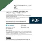 Démarches d'Ergonomie Participative Pour Réduire Les Risques de Troubles Musculo-squelettiques:Bilan Et Réflexions 2000
