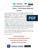 Frequency Response for Control System Analysis - GATE Study Material in PDF