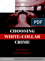 Neal Shover & Andrew Hochstetler - Choosing White Collar Crimes