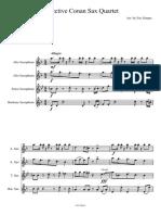 Detective Conan Main Theme Sax Quartet