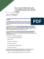 Ley 29351- Gratificación Extraordinaria