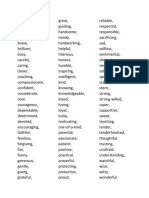 Adjectives for Ielts TOEFL Fce