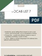 vocab list 7